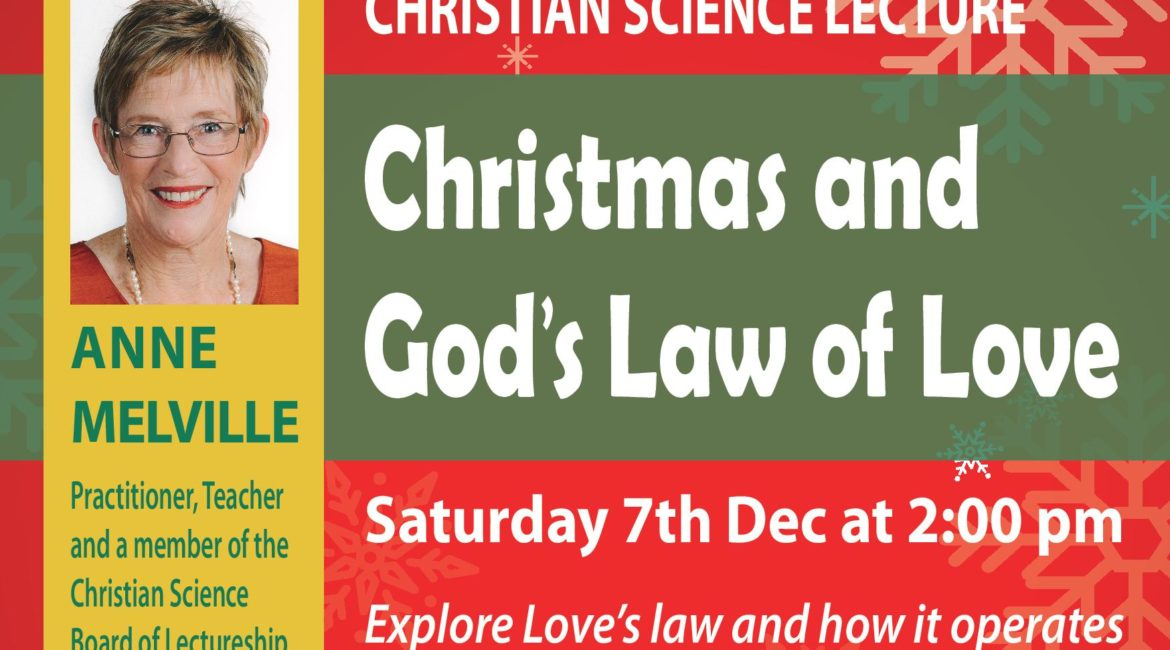Christmas lecture – Christmas and God's Law of Love